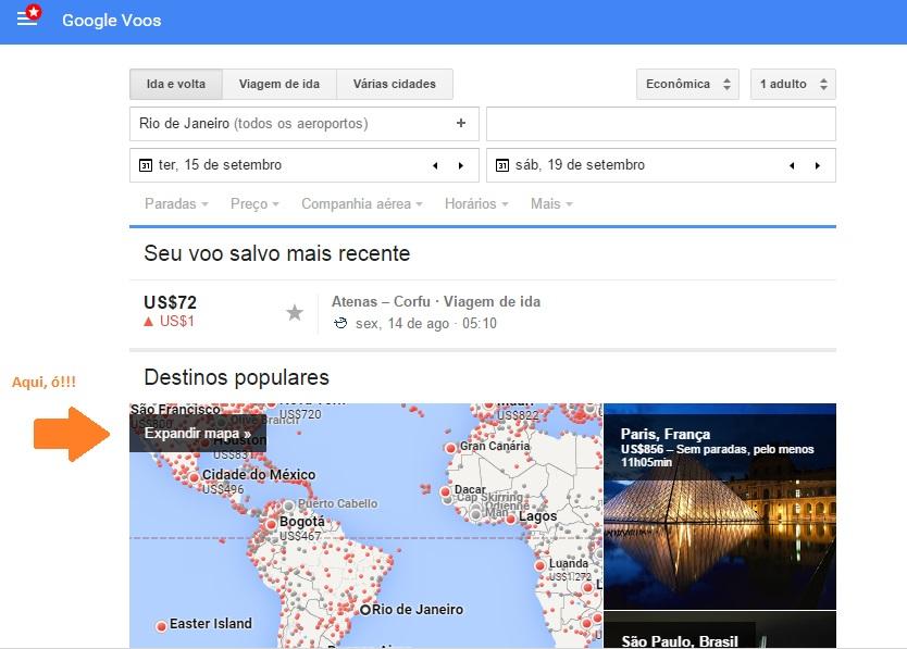teste google flights passagens baratas 2
