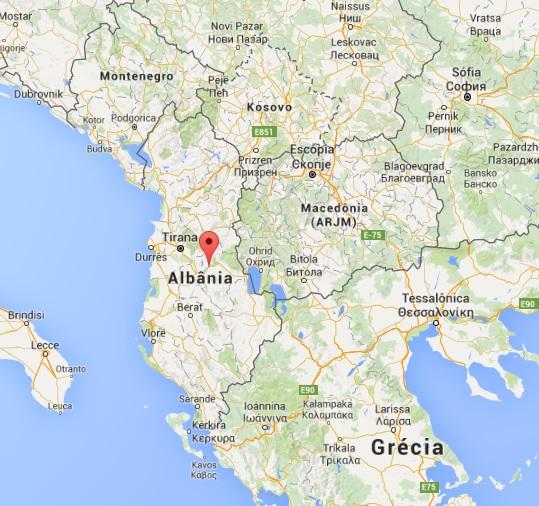 mapa albania
