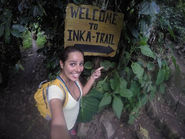 trilha para Machu Picchu