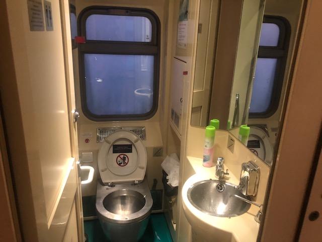 Os banheiros da Transiberiana